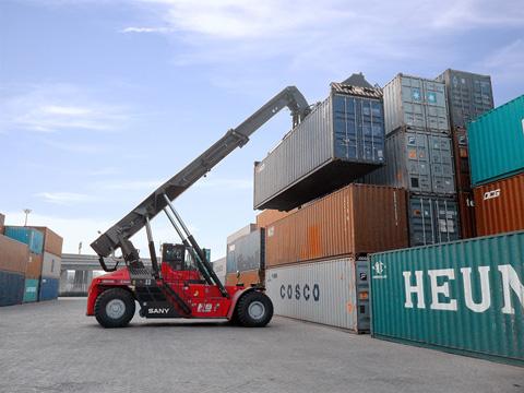 2014年天津国际物流SRSC45H8施工施工项目