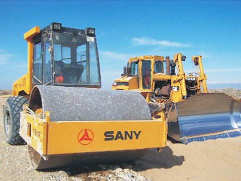 三一压路机在哈萨克斯坦表现出色施工项目