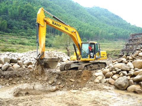 福建露天沙场施工现场施工项目
