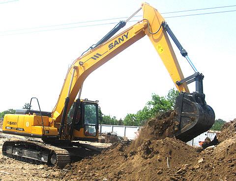 三一挖掘机参与北京地铁5号线建设施工项目