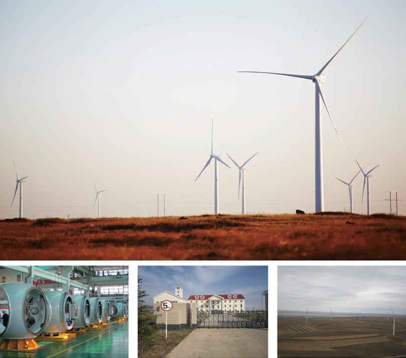 三一风机忠实用户--河北张北邬登山风电场项目施工项目