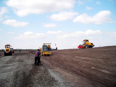 三一摊铺机在黑龙江施工施工项目