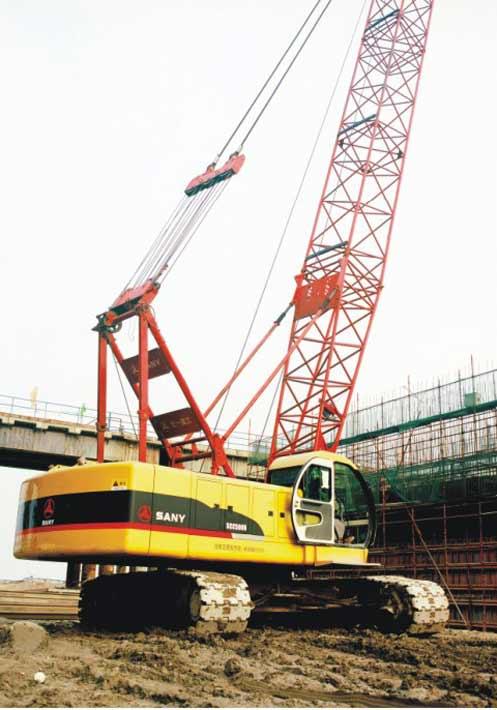 三一履带起重机参与武汉天兴洲大桥建设施工项目