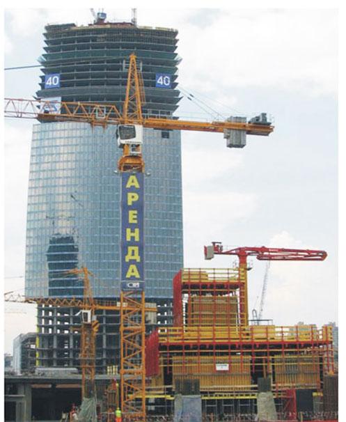 HGR33B楼面内爬式布料杆在欧洲*一高楼-联邦大厦施工案例施工项目