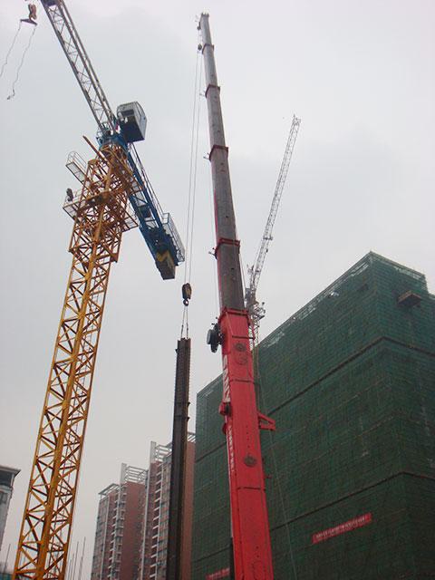三一参与湖北东圣与三峡银行楼盘施工施工项目