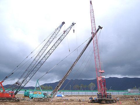 三一(SCC1000)履带起重机负责韩国梁山高层公寓地基施工施工项目