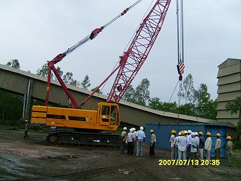 三一(SCC800)协助印度加尔各答搭建水泥工厂施工项目