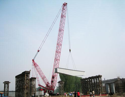 三一履带起重机山东救援案例施工项目