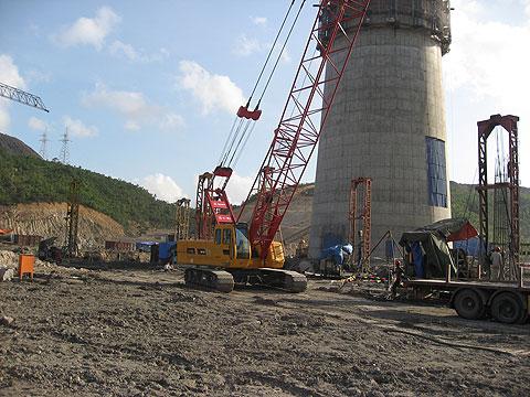 三一(SCC500D)参与越南海防工程火电厂工程施工项目