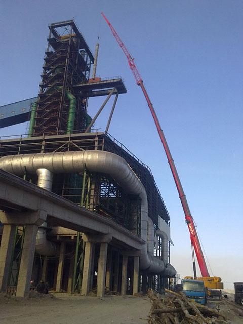 三一(SCC4000)履带起重机参与江苏南通如东风电设备搭建施工项目