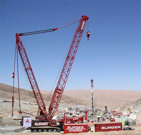 神州第一吊-三一SCC4000型履带起重机参与智利矿难救援施工项目