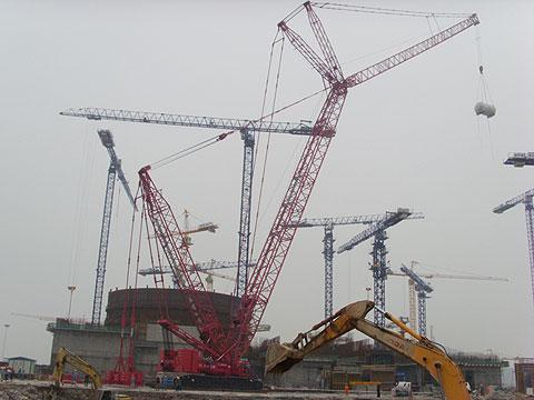 三一(SCC6300)履带起重机参与福建宁德核电站工程施工施工项目