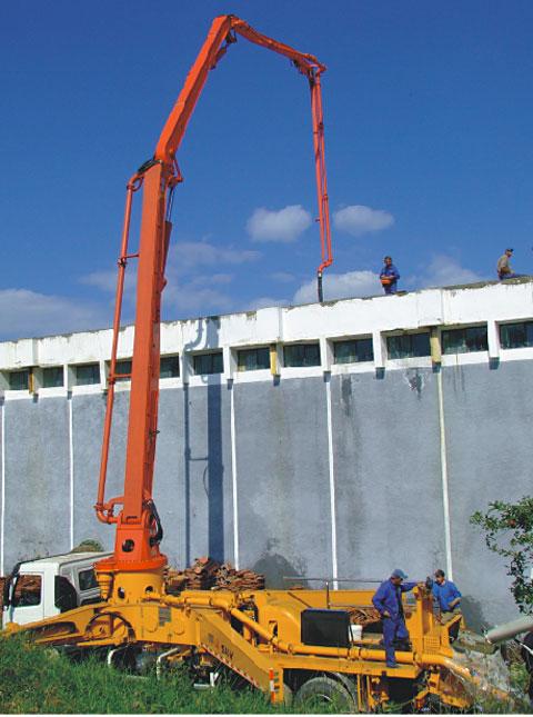 三一泵车参与罗马尼亚Lasi市建设工程施工项目