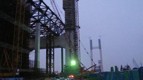 SCC2000在上海闵浦大桥施工施工项目