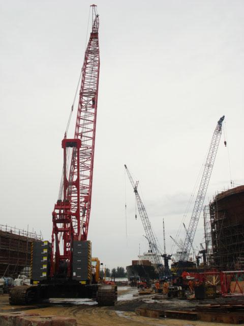 SCC2500C在印尼BATUM岛 BEN UNIT造船厂施工施工项目