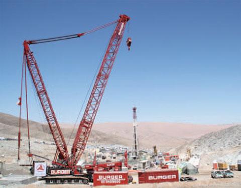 智利政府选中三一SCC4000参与矿难救援工作施工项目