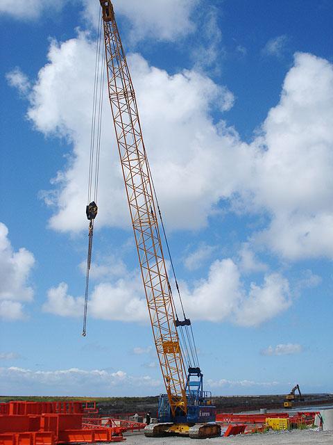 SCC500D参与法国诺曼底港口建设施工项目