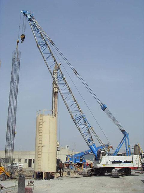 三一(SCC500E)参与阿联酋阿吉曼工厂项目(使用25m主臂工况-吊装钢筋混凝土铁笼)施工项目