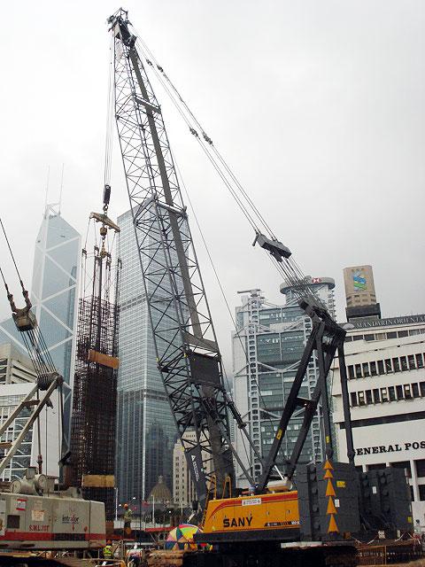 SCC1500C在香港中环地铁二期工程施工施工项目