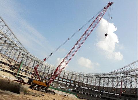 三一(SCC1000C)履带起重机参与南昌市国际体育馆项目施工施工项目