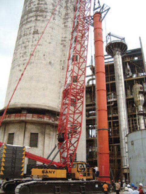 SCC4000云南某化工厂施工现场施工项目