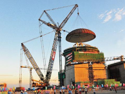 三一(SCC10000)履带起重机10年参与福建福清核电站现场吊装施工项目