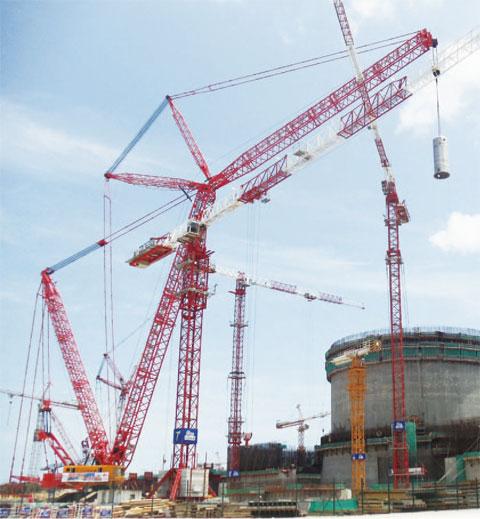 三一(SCC16000)履带起重机11年参与广东台山核电站工程施工项目