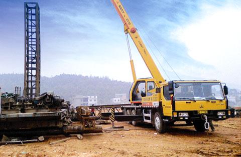 STC250 汽车起重机参与哈大高铁施工建设施工项目