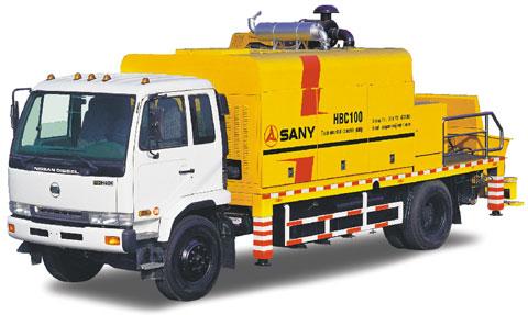 HBC100车载泵迪拜商务港主群楼工程施工案例施工项目