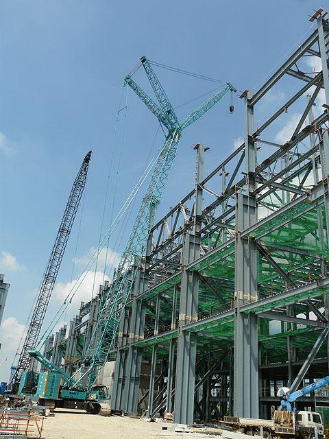 三一(SCC3200)参与韩国唐津现代制铁厂工程建设施工项目