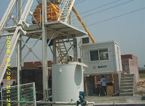三一HZS60搅拌站参与巴基斯坦Eden住宅建设施工项目