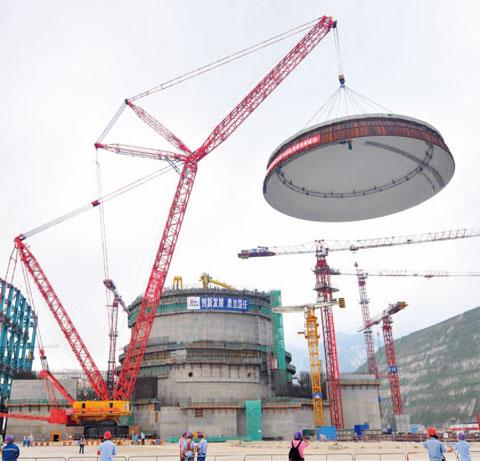 SCC16000广东台山核电站施工现场施工项目