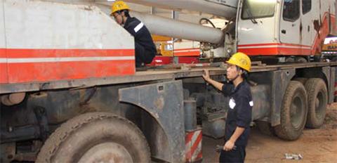 湖南救援案例 对象:三一16T起重机施工项目