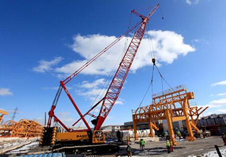 三一(SCC2500)型履带起重机参与北美尼亚加拉隧道工程项目施工项目