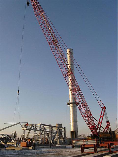 三一(SCC2500C)参与美国圣路易斯(St.Louis)附近的钢铁厂工程施工项目