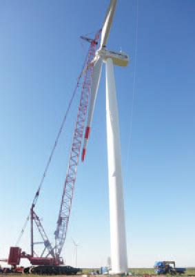 三一(SCC6500WE)风电履带起重机参与黑龙江大庆和平风电场吊装施工项目