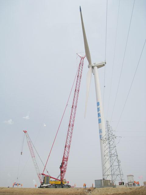 三一(SCC4000)参与山东东营瑞丰风电项目施工项目
