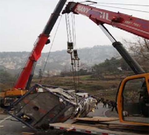湖北救援案例 对象:大货车施工项目