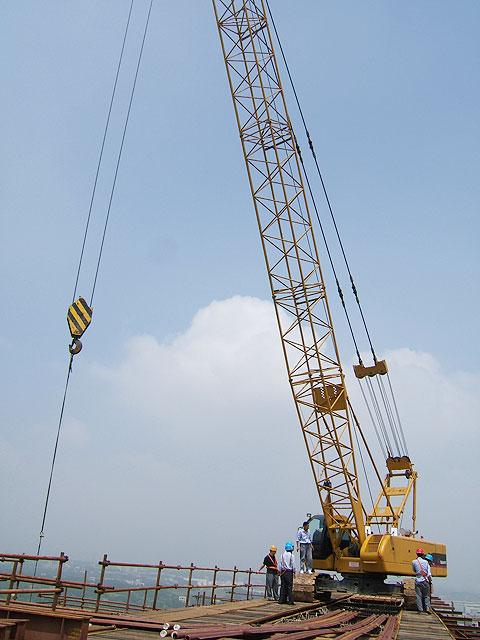 三一(SCC500)履带起重机参与湖南湘钢工程施工项目