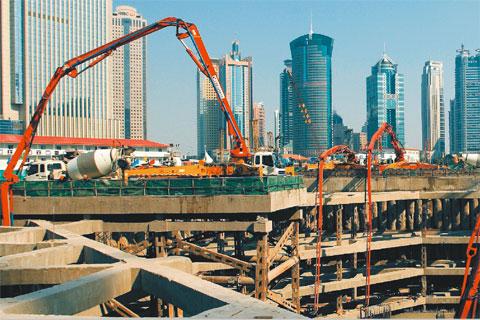 无插件直播泵车建造上海环球金融中心大厦施工项目