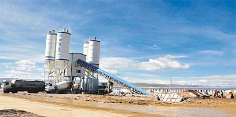 三一建成世界海拔最高搅拌站—— 西藏那曲物流中心工程施工项目