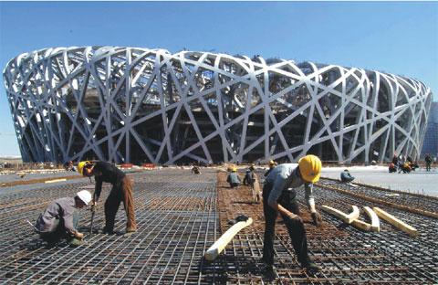 三一设备参建国家体育场工程施工项目