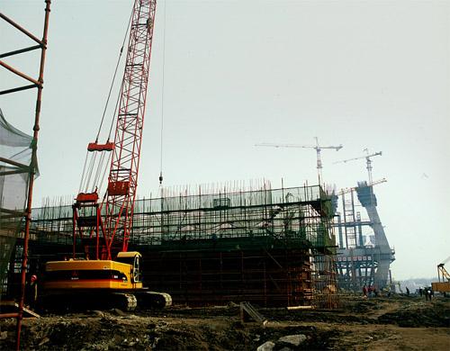 三一泵车参与武汉长江大桥项目施工施工项目