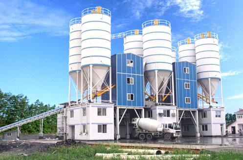 三一混凝土搅拌站在杭州临安天柱有限公司作业现场施工项目