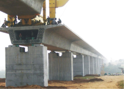 三一设备承建苏通大桥施工项目
