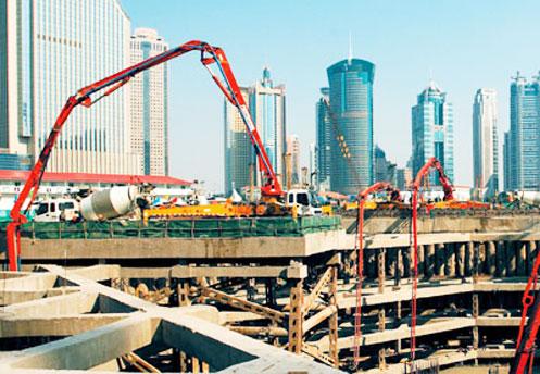 三一66米泵车全球巡展-广州施工项目