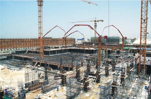 HGR33B悬挂式布料杆在香港九龙7期建设施工案例施工项目