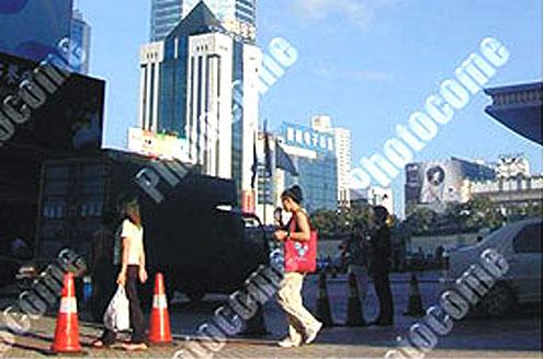 三一拖泵为深圳赛格广场进行混凝土泵送工程施工项目