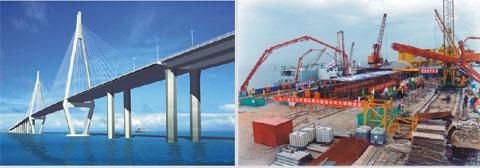 三一拖泵征服水上作业,扬威世界最长跨海大桥——东海大桥工程施工项目