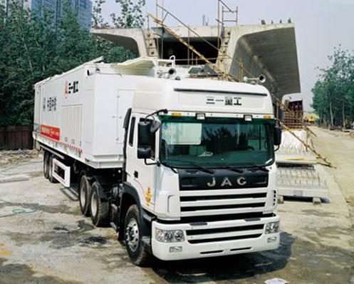 三一砂浆车参与长铁二局京珠高速铁路施工现场施工项目